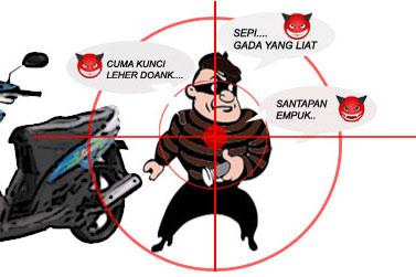 Hasil gambar untuk Tips Menghindari Pencurian Kendaraan Bermotor