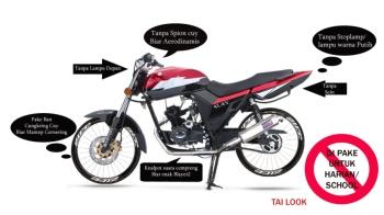 Modifikasi Motor Yg Dilarang Polisi Blog Motor Keren