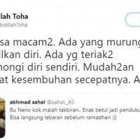 Neno Warisman Takbiran Kemenangan Prabowo , Pendiri PAN : Mudah-mudahan mendapat Kesembuhan
